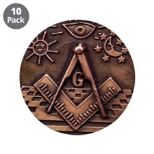 "Bronze Freemasonry 3.5"" Button (10 pack)"