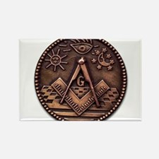 Bronze Freemasonry Rectangle Magnet