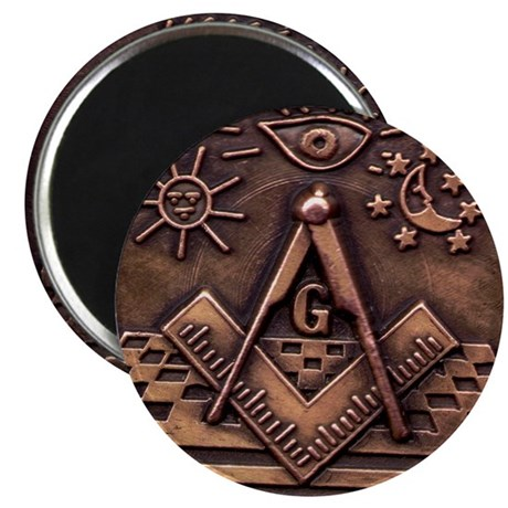 """Bronze Freemasonry 2.25"""" Magnet (10 pack)"""