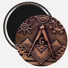 Bronze Freemasonry Magnet