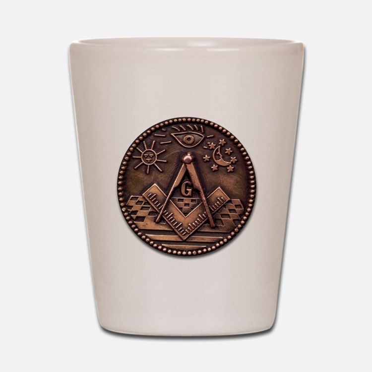 Bronze Freemasonry Shot Glass