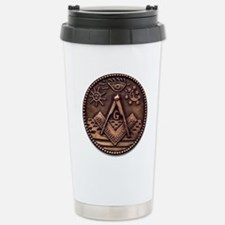 Bronze Freemasonry Stainless Steel Travel Mug