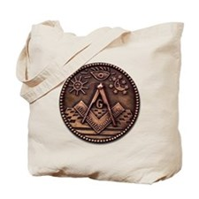 Bronze Freemasonry Tote Bag