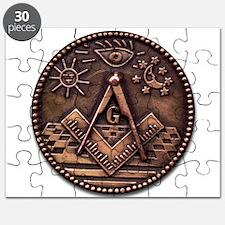Bronze Freemasonry Puzzle