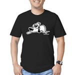 I'm all pooped out! Black & W Men's Fitted T-Shirt