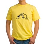 I'm all pooped out! Black & W Yellow T-Shirt
