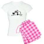 I'm all pooped out! Black & W Women's Light Pajama