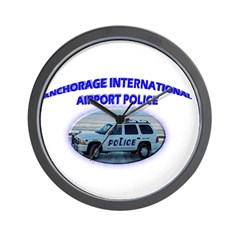 Anchorage Airport Police Wall Clock