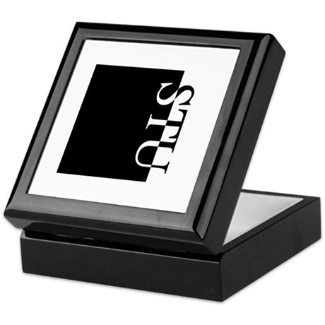 STU Typography Keepsake Box