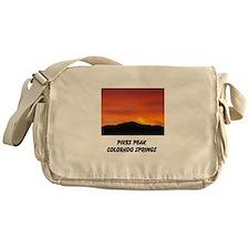 Funny Sunset clouds Messenger Bag