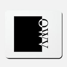 OWV Typography Mousepad