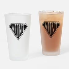 SuperAunt(metal) Drinking Glass