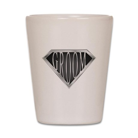 SuperGroom(metal) Shot Glass