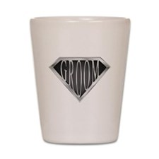 SuperGroom(metal) Shot Glass