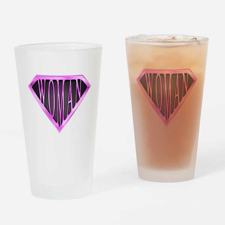 SuperWoman(Pink) Drinking Glass