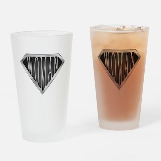 SuperWoman(metal) Drinking Glass