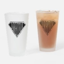 SuperDirector(metal) Drinking Glass