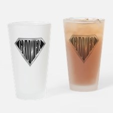SuperGrower(metal) Drinking Glass