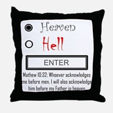 Acknowledge Heaven Throw Pillow