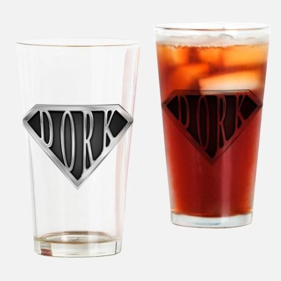 SuperDork(metal) Drinking Glass