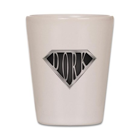 SuperDork(metal) Shot Glass