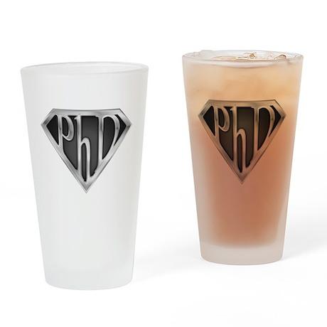 Super PhD - metal Drinking Glass