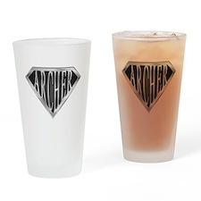 SuperArcher(metal) Drinking Glass