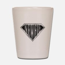 SuperNewfie(metal) Shot Glass
