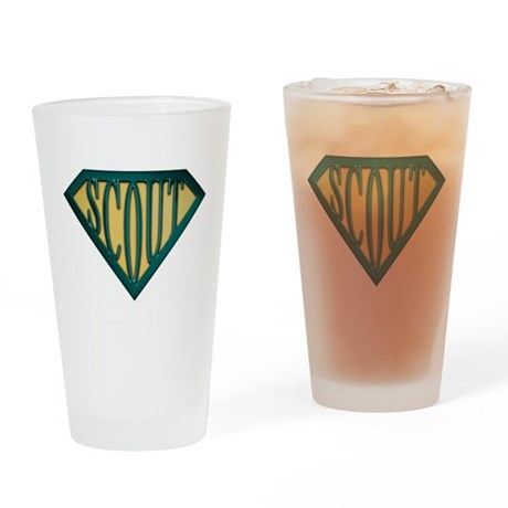 SuperScout(Tan) Drinking Glass
