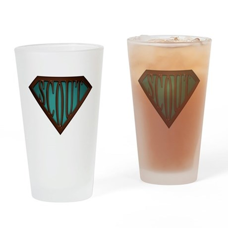 SuperScout(Green) Drinking Glass