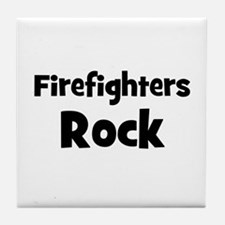 FIREFIGHTERS  Rock Tile Coaster