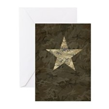 Star, distressed camo Greeting Cards (Pk of 20)