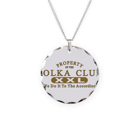 Polka Club Necklace Circle Charm