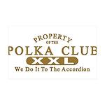 Polka Club 38.5 x 24.5 Wall Peel