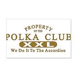 Polka Club 22x14 Wall Peel
