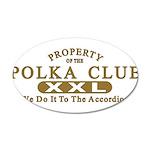 Polka Club 38.5 x 24.5 Oval Wall Peel