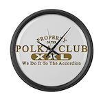 Polka Club Large Wall Clock