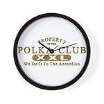 Polka Club Wall Clock