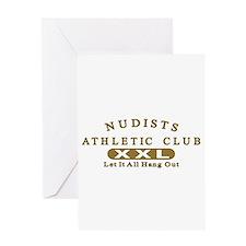 Nudist Athletic Club Greeting Card
