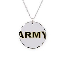 US Army Necklace Circle Charm