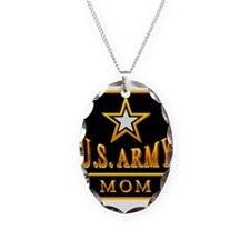 Army Mom Necklace Oval Charm