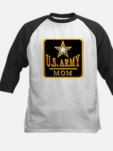 Army Mom Kids Baseball Jersey