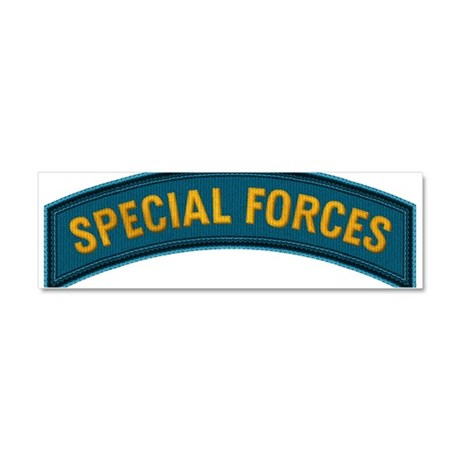 Special Forces(Teal) Car Magnet 10 x 3