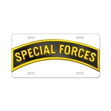Special Forces(Black) Aluminum License Plate