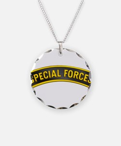 Special Forces(Black) Necklace Circle Charm
