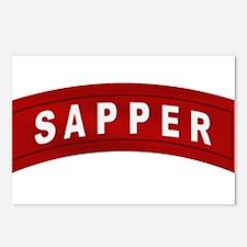 Sapper Tab Postcards (Package of 8)