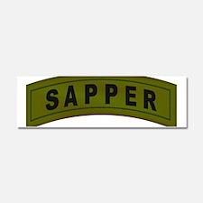 Sapper Tab Car Magnet 10 x 3