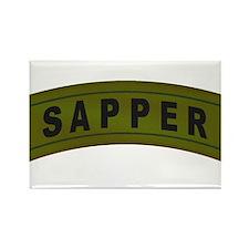 Sapper Tab Rectangle Magnet