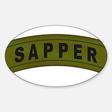 Sapper Tab Sticker (Oval)