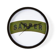 Sapper Tab Wall Clock